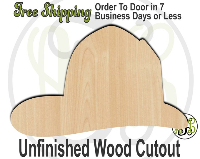 Fireman Hat, Fireman Hat wood cutout, Occupational Cutout, wood craft shapes, wood shapes, laser cut shape, unfinished wood cutout - 24203