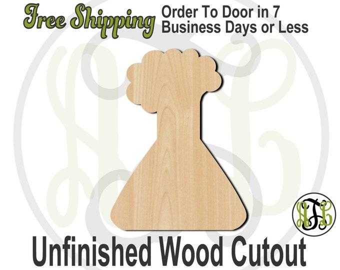 Beaker Wood Cutout, Wooden Beaker Door Hanger, Science Teacher Sign, wood cut out, wooden, laser cut, unfinished wood cutout - 70011