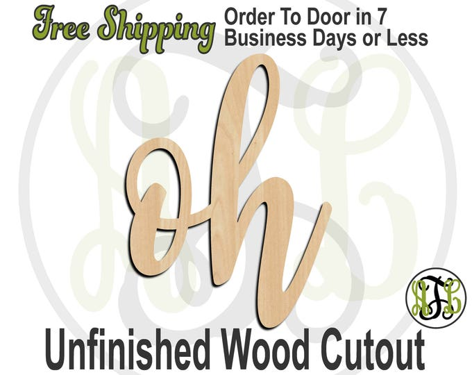 oh - 320278FrFt- Word Cutout, unfinished, wood cutout, wood craft, laser cut wood, wood cut out, Door Hanger, wooden sign, wreath accent