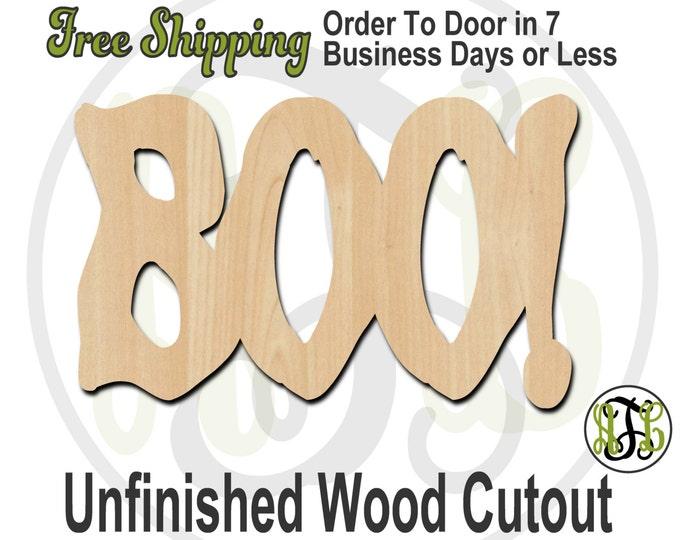 Boo - 160101- Halloween Cutout, unfinished, wood cutout, wood craft, laser cut wood, wood cut out, Door Hanger, wooden sign, wall art