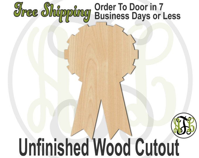 Plaque Award Ribbon - 40031- Cutout, unfinished, wood cutout, wood craft, laser cut shape, wood cut out, DIY, Free Shipping
