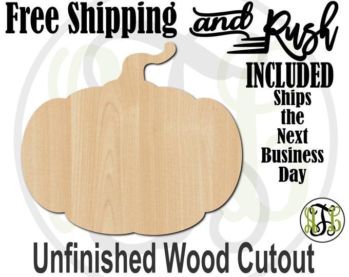 Pumpkin - 160008- Halloween Cutout, unfinished, wood cutout,  laser cut shape, Door Hanger, wall art - RUSH PRODUCTION