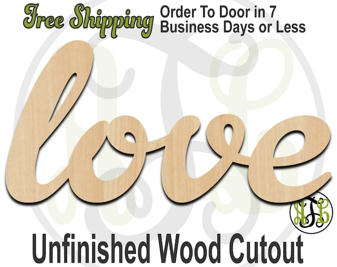 Love 4 - 110015- Valentines Cutout, unfinished, wood cutout, wood craft, laser cut wood, wood cut out, Door Hanger, wooden sign, wall art