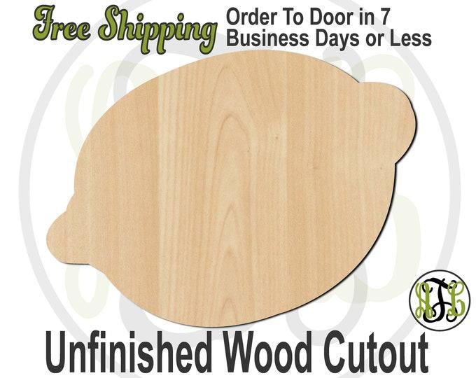 Lemon or Lime - 280303- Fruit Cutout, unfinished, wood cutout, wood craft, laser cut shape, wood cut out, Door Hanger, wooden, Citrus Fruit