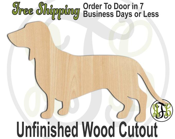 Dachshund- No. 230067- Dog Cutout, unfinished, wood cutout, wood craft, laser cut shape, wood cut out, Door Hanger, Dog, wooden, blank