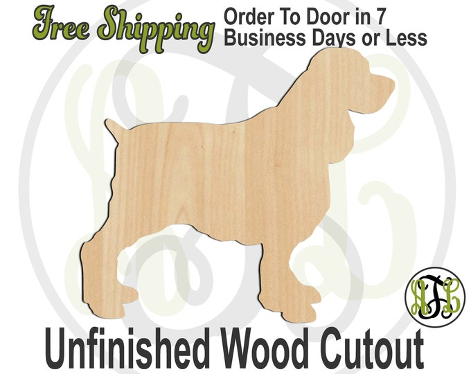 English Springer Spaniel - 230123- Dog Cutout, unfinished, wood cutout, wood, laser cut shape, wood cut out, Door Hanger, wooden, blank