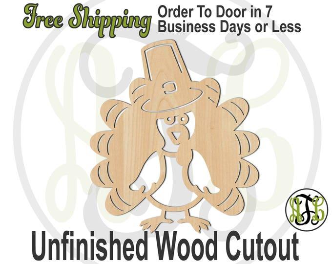 Turkey 6- 170024- Thanksgiving Cutout, unfinished, wood cutout, wood craft, laser cut shape, wood cut out, Door Hanger, Gobble, Bird, wooden