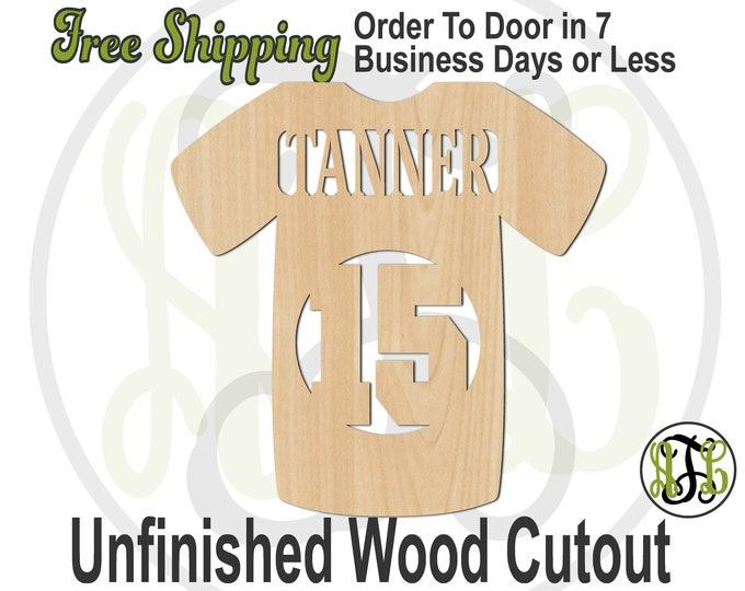 Baseball Jersey with Name and Number- 60010NoNA- Personalized Cutout, unfinished, wood cutout, wood craft, laser cut, wood cut out, wooden