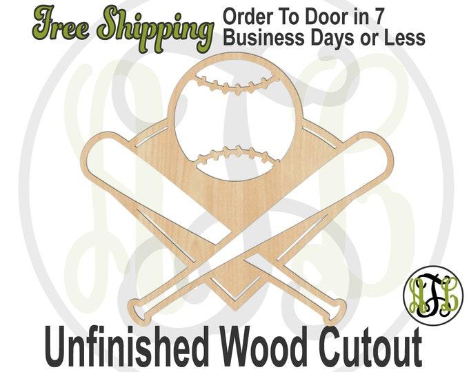 Baseball Field & Bats-60338- Baseball Cutout, unfinished, wood cutout, wood art, laser cut shape, wood cut out, Door Hanger, wooden