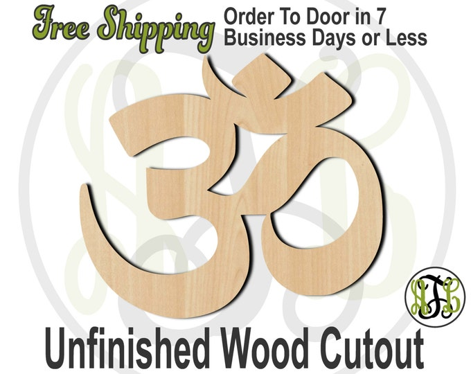 Om- 290018- Spiritual Cutout, unfinished, wood cutout, wood craft, laser cut wood, wood cut out, Door Hanger, Self Within, wooden sign