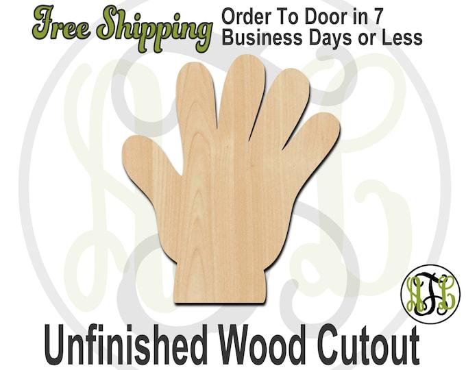 5 Fingers - 80013- Cutout, unfinished, wood cutout, wood craft, laser cut shape, wood cut out, Door Hanger, wooden, wreath accent