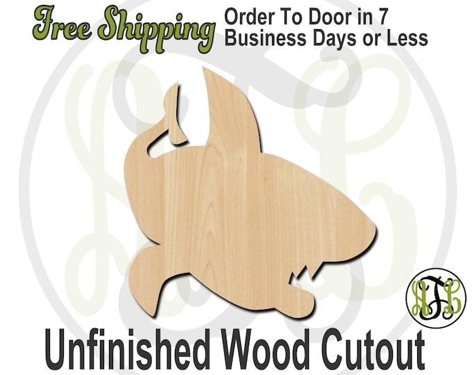 Shark - 10015- Fish Cutout, unfinished, wood cutout, wood craft, laser cut shape, wood cut out, Door Hanger, wooden, blank
