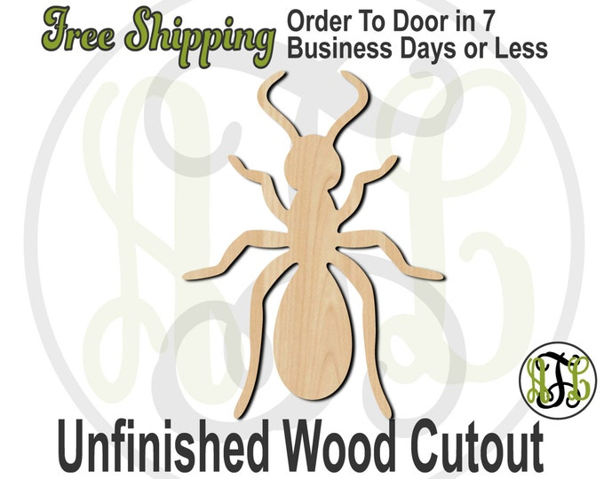Ant - 235011- Insect Cutout, unfinished, wood cutout, wood craft, laser cut shape, wood cut out, Door Hanger, wooden, blank
