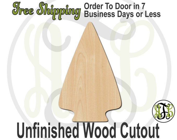 Arrowhead - 300075- Weapon Cutout, unfinished, wood cutout, wood craft, laser cut shape, wood cut out, Door Hanger, Indian, wooden