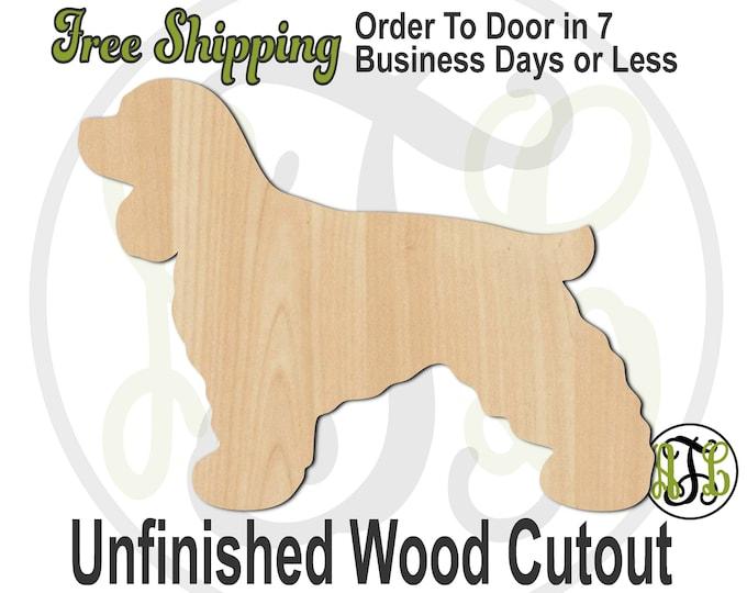 Cocker Spaniel - 230078- Animal Cutout, unfinished, wood cutout, wood craft, laser cut shape, wood cut out, Door Hanger, Dog, wooden, blank
