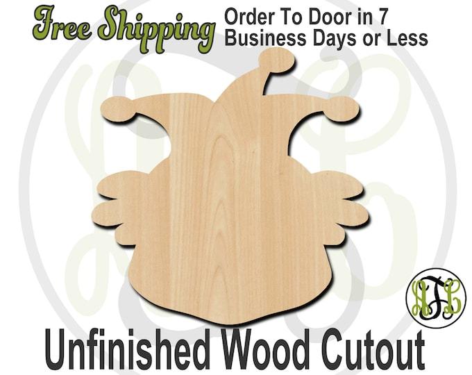 Clown 1 - 80001- Cutout, unfinished, wood cutout, wood craft, laser cut shape, wood cut out, Door Hanger, wooden, wreath accent