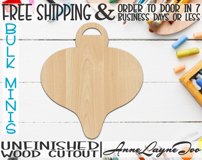"Whimsical Ornament, 2"" to 6"" Minis, Small Wood Cutout, unfinished, wood cutout, wood craft, laser cut, wood cut -180030"