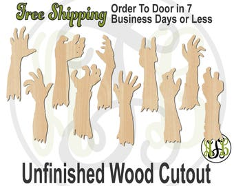 Laser Cut Out Unfinished Wood Shape Craft  Supply FAL204 Zombie