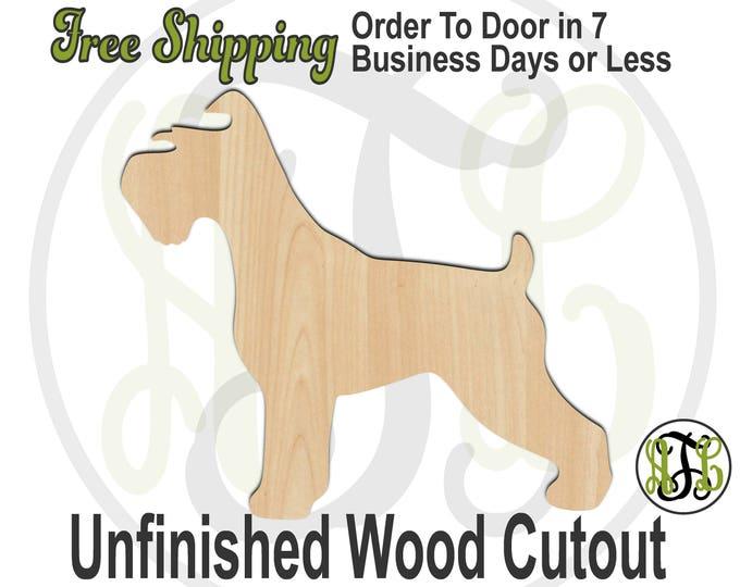 Schnauzer - 230089- Animal Cutout, unfinished, wood cutout, wood craft, laser cut shape, wood cut out, Door Hanger, Dog, wooden, blank