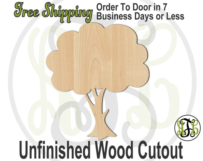 Tree-  300116- Nature Cutout, unfinished, wood cutout, wood craft, laser cut shape, wood cut out, Door Hanger, wooden, blank