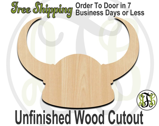 Viking Helmet - 24208- Cutout, unfinished, wood cutout, wood craft, laser cut shape, wood cut out, Door Hanger, wooden, ready to paint