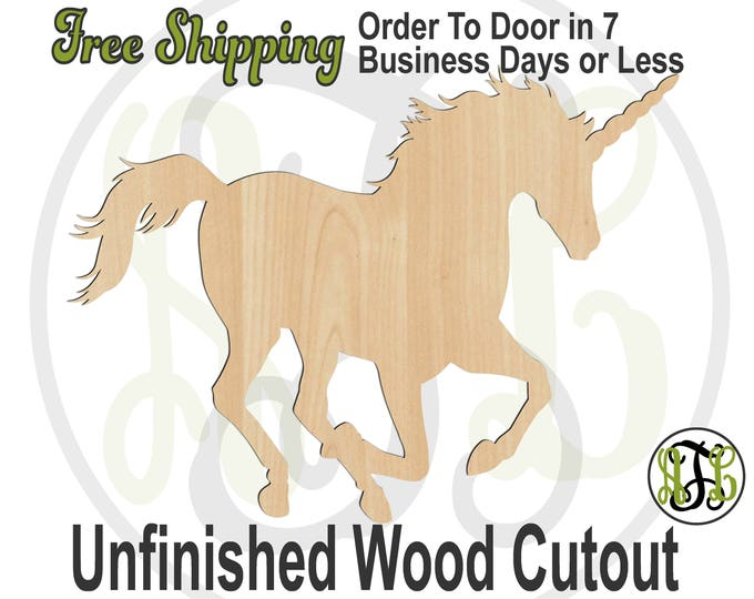 Unicorn Running - 230114- Animal Cutout, unfinished, wood cutout, wood craft, laser cut shape, wood cut out, wood cut out, wooden, Fantasy