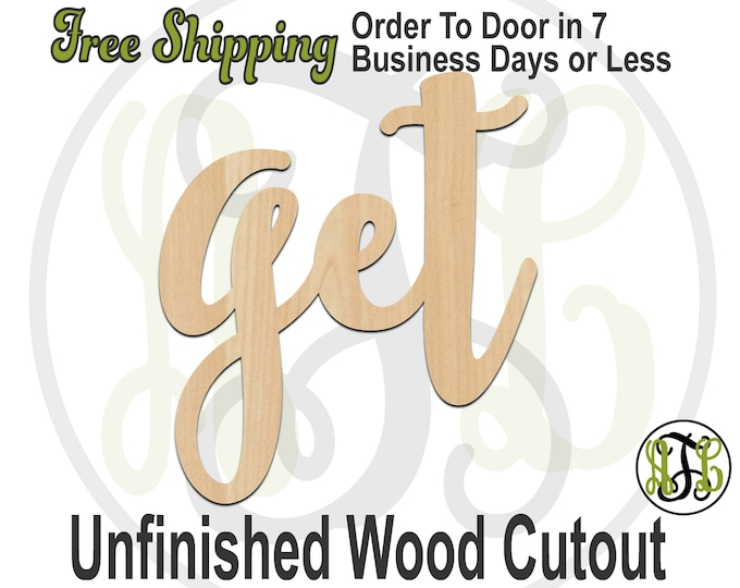 get - 320336FrFt- Word Cutout, unfinished, wood cutout, wood craft, laser cut wood, wood cut out, Door Hanger, wooden sign, wreath accent