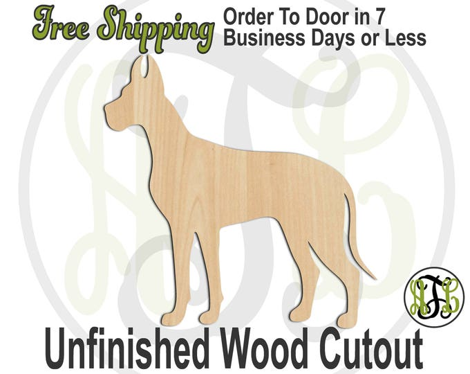 Great Dane - 230080- Animal Cutout, unfinished, wood cutout, wood craft, laser cut shape, wood cut out, Door Hanger, Dog, wooden, blank