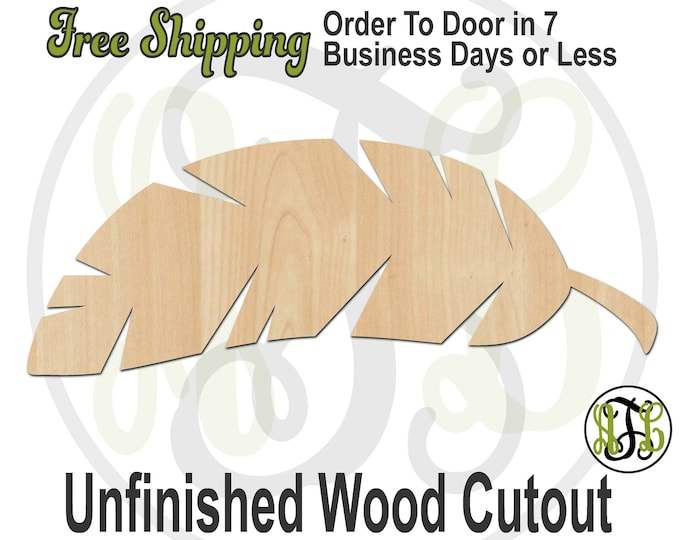 Banana Leaf - No. 300079- Nature Cutout, unfinished, unpainted, wood cutout, wood craft, laser cut blank, Door Hanger, wood cut out, wooden