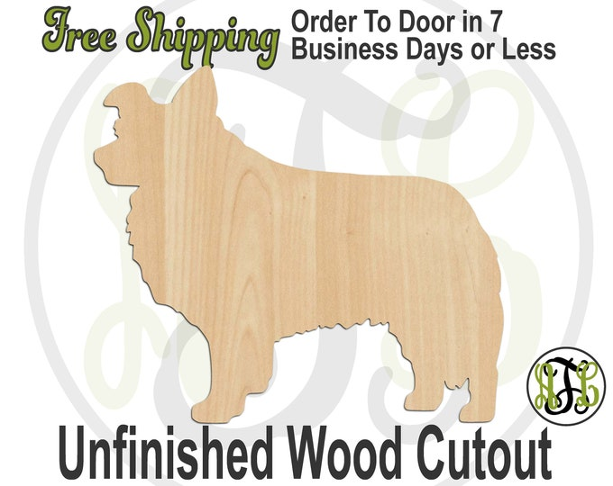 Border Collie - 230160- Dog Cutout, unfinished, wood cutout, wood craft, laser cut shape, wood cut out, Door Hanger, wooden, blank