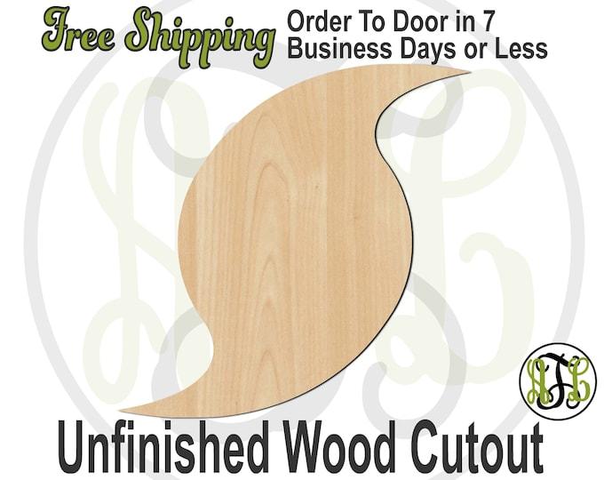 Hurricane Wood Cutout, Weather Cutout, wood cut out, Hurricane Door Hanger, wooden sign, laser cut, unfinished wood cutout - 300204