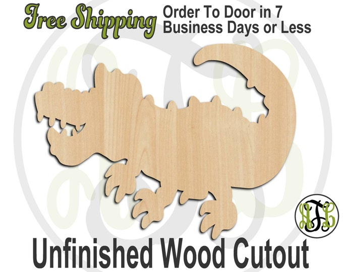 Alligator 1 - 230041- Reptile Cutout, unfinished, wood cutout, wood craft, laser cut shape, wood cut out, Door Hanger, wooden, blank