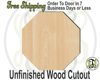 Rustic  wooden octagon door personalised sign laser engraved
