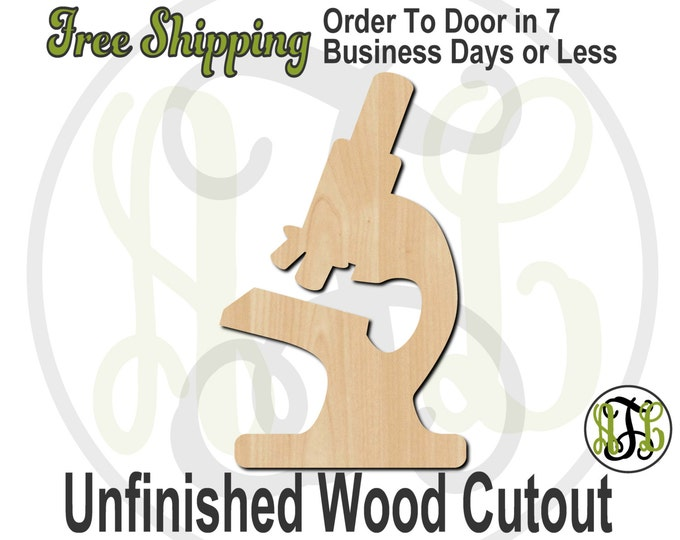 Microscope Wood Cutout, Science Cutout, Educational wood shape, wood cut out, Door Hanger, wooden, laser cut, unfinished wood cutout- 300059