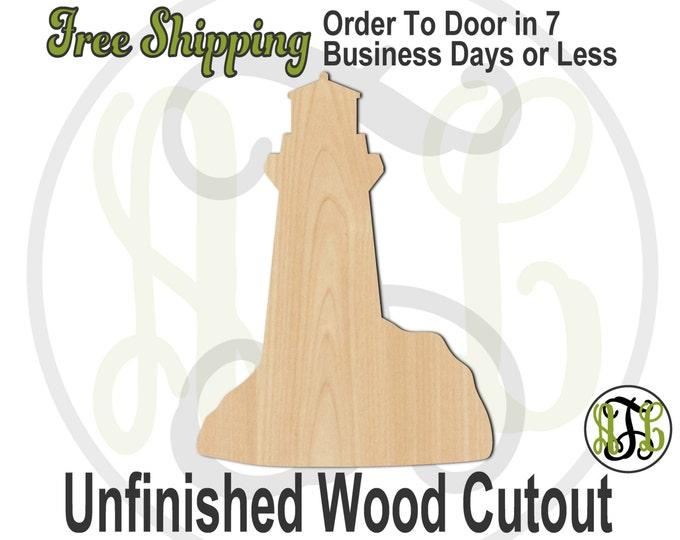 Lighthouse - No. 300115- Nautical Cutout, unfinished, wood cutout, wood craft, laser cut, wood cut out, Door Hanger, Light House, wooden