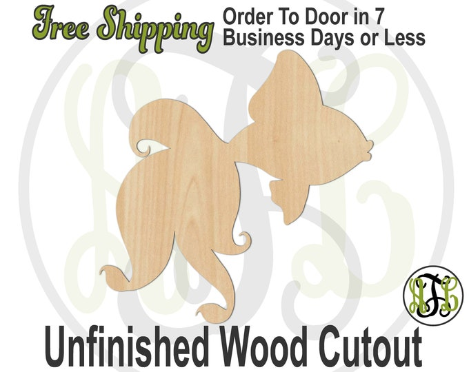 Prissy Fish - 50021- Cutout, unfinished, wood cutout, wood craft, laser cut shape, wood cut out, Door Hanger, wooden, ready to paint