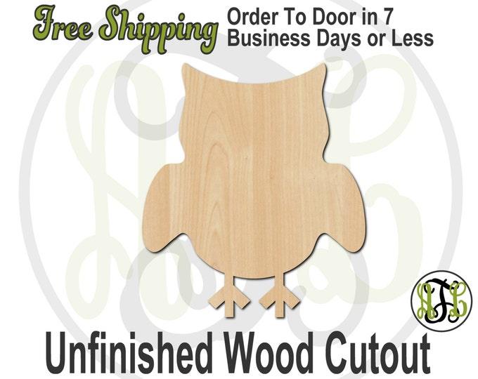 Owl 3 - 230009- Bird Cutout, unfinished, wood cutout, wood craft, laser cut shape, wood cut out, Door Hanger, wooden, blank