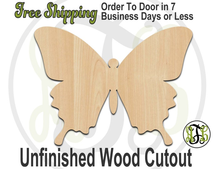 Butterfly 3 - 235009- Insect Cutout, unfinished, wood cutout, wood craft, laser cut shape, wood cut out, Door Hanger, wooden, blank