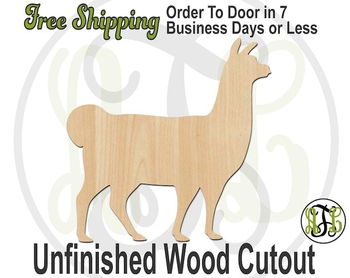 Llama - 230121- Animal Cutout, unfinished, wood cutout, wood craft, laser cut shape, wood cut out, Door Hanger, Dog, wooden, blank
