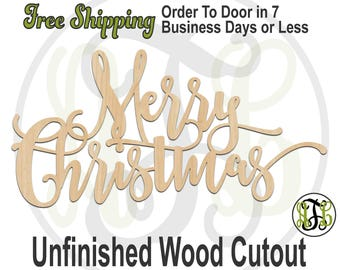 merry christmas 325081frft christmas cutout unfinished wood cutout wood craft laser cut wood wood cut out door hanger wooden sign - Merry Christmas Wooden Sign