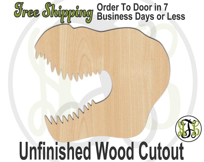 T-Rex Head- 230066- Animal Cutout, unfinished, wood cutout, wood craft, laser cut shape, wood cut out, Door Hanger, Dinosaur, wooden, blank