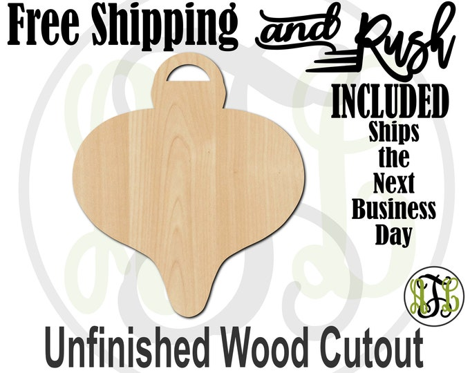 Whimsical Ornament 2 - 180030- Christmas Cutout, unfinished, wood cutout, laser cut, wood cut, Door Hanger - RUSH PRODUCTION