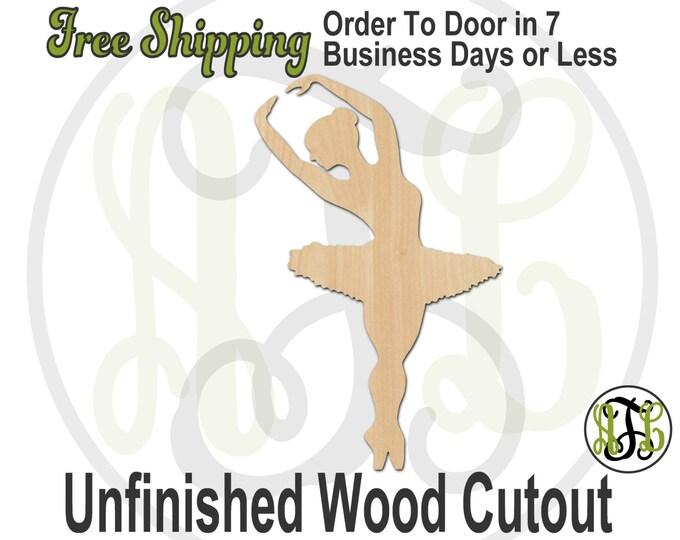 Ballerina 2- 60023- Cutout, unfinished, wood cutout, wood craft, laser cut shape, wood cut out, Door Hanger, wooden, wall art