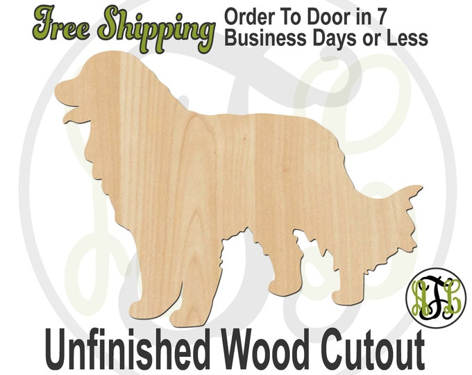 Great Pyrenees - 230125 - Dog Cutout, unfinished, wood cutout, wood craft, laser cut shape, wood cut out, wood cut out, wooden