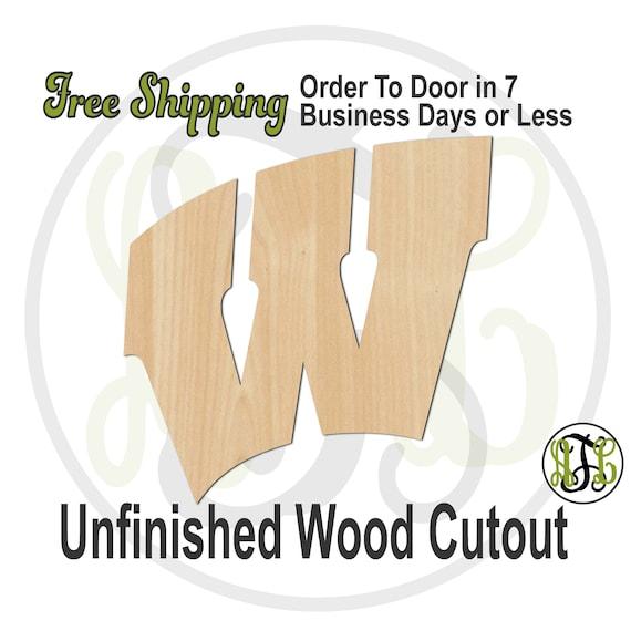 W - 60201- School Spirit Cutout, unfinished, wood cutout, wood craft, laser cut shape, wood cut out, Door Hanger, wooden