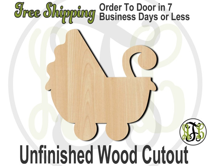 Carriage - 30002- Cutout, unfinished, wood cutout, wood craft, laser cut shape, wood cut out, Door Hanger, wooden, wreath accent