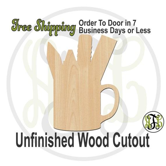 Mug w/ School Supplies - 70024- School Cutout, unfinished, wood cutout, wood craft, laser cut shape, wood cut out, Door Hanger, Teacher