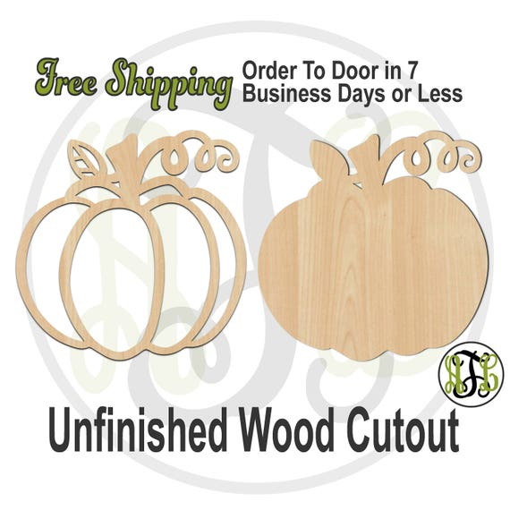 Pumpkin Outline or Solid- 170025-26- Thanksgiving Cutout, unfinished, wood cutout, wood craft, laser cut shape, wood cut out, wooden
