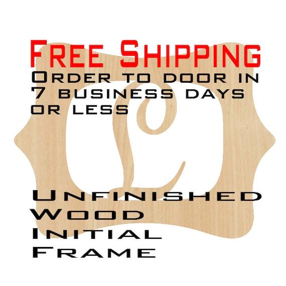 Unfinished Wood Lilly Frame Monogram Name Word Custom | Etsy