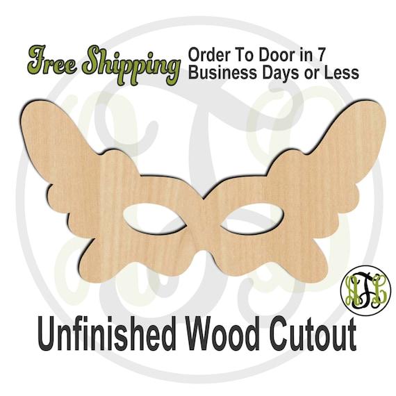 Mardi Gras Mask 5 - 130010- Mardi Gras Cutout, unfinished, wood cutout, wood craft, laser cut, wood cut out, Door Hanger, Carnival, wooden